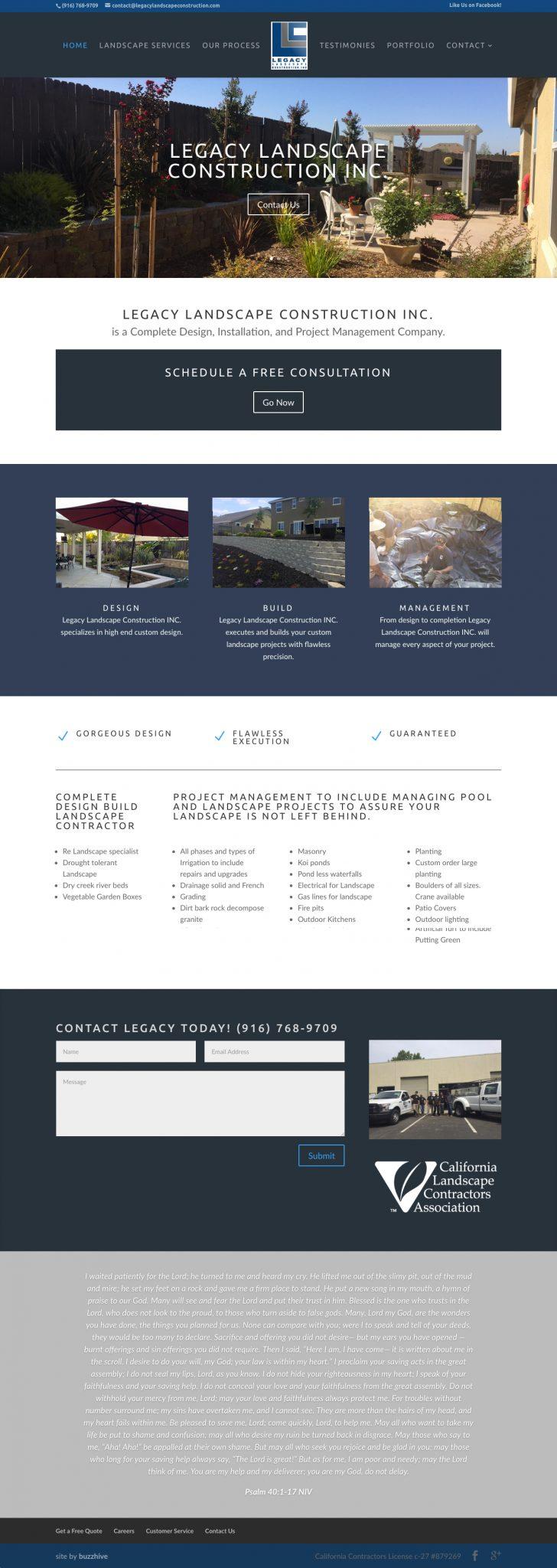 LegacyLandscapeConstruction.com_ Standalone Pricing